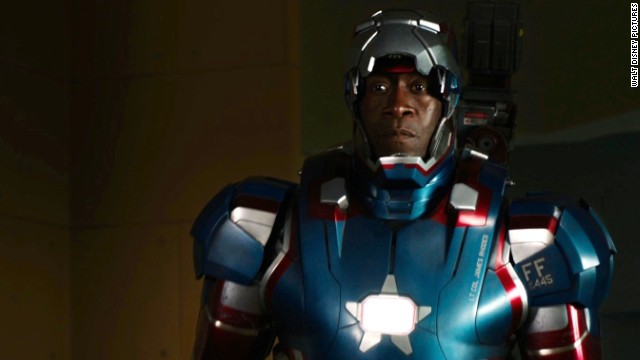 "Don Cheadle stars as James Rhodes/War Machine in ""Iron Man 3."""