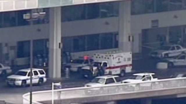 Witness: Got off plane, heard gunfire