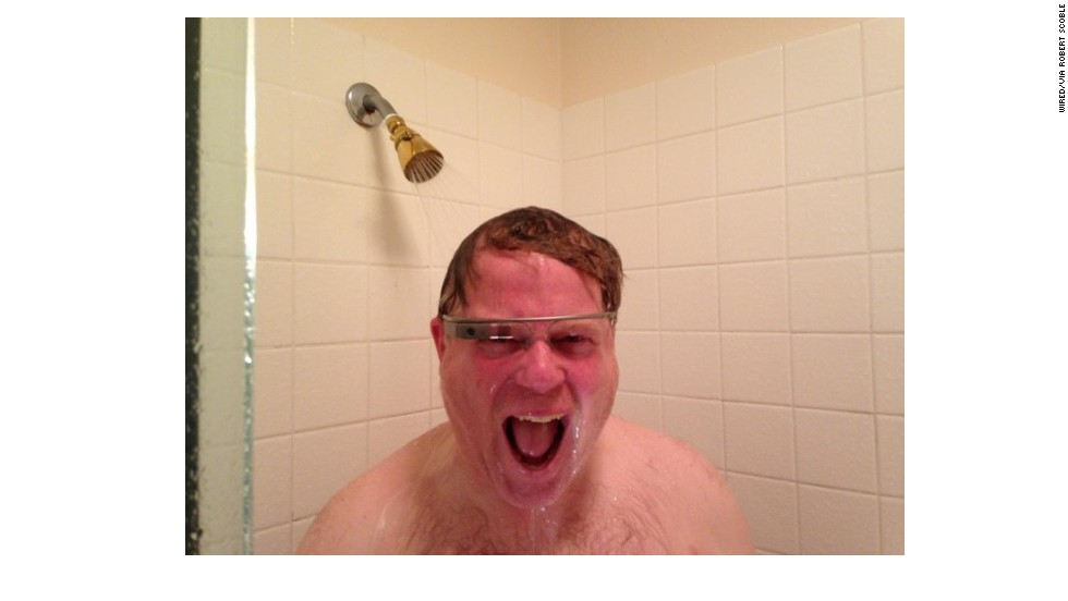 "Tech journalist Robert Scoble posted a photo of himself wearing Google Glass in the shower to show that the set is waterproof. The photo became popular on the Internet and was featured in a Tumblr blog called <a href=""http://whitemenwearinggoogleglass.tumblr.com/"" target=""_blank"">White Men Wearing Google Glass</a>. Click through the gallery to see more people who are sporting the electronic eyewear. If you think you can out-cool these guys, <a href=""http://ireport.cnn.com/topics/212164"">share a photo of yourself wearing them</a> on CNN iReport or tag your Instagram photos <a href=""http://statigr.am/viewer.php#/tag/cnnireport/"" target=""_blank"">#cnnireport</a>."