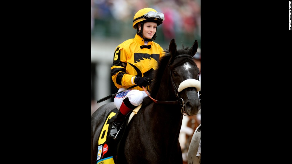 Rosie Napravnik rides Mylute in the post parade.
