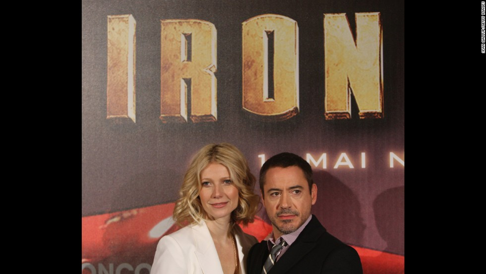 "In 2008, with actress Gwyneth Paltrow, Downey starred in the first ""Iron Man"" film."