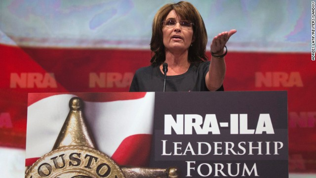 Former Alaska Gov. Sarah Palin was among the GOP politicians last week at the National Rifle Association convention in Houston.