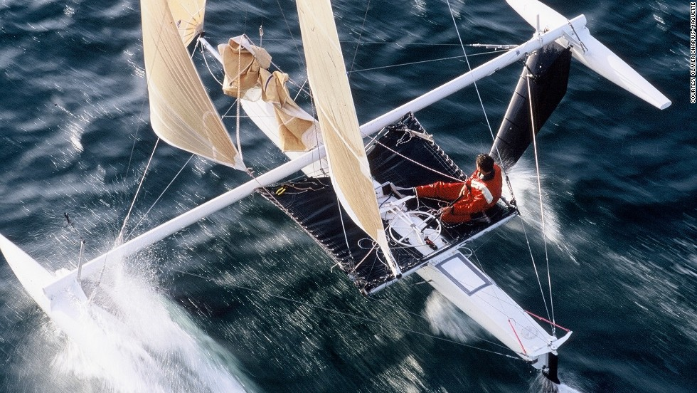"""I grew up in a home for children with no parents -- my father was living in Africa and my mother was in a psychiatric house,"" said Thebault. ""I discovered freedom through windsurfing."""
