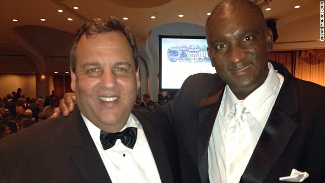 New Jersey Gov. Chris Christie with Bryan Monroe at the White House Correspondents Dinner on April 27.