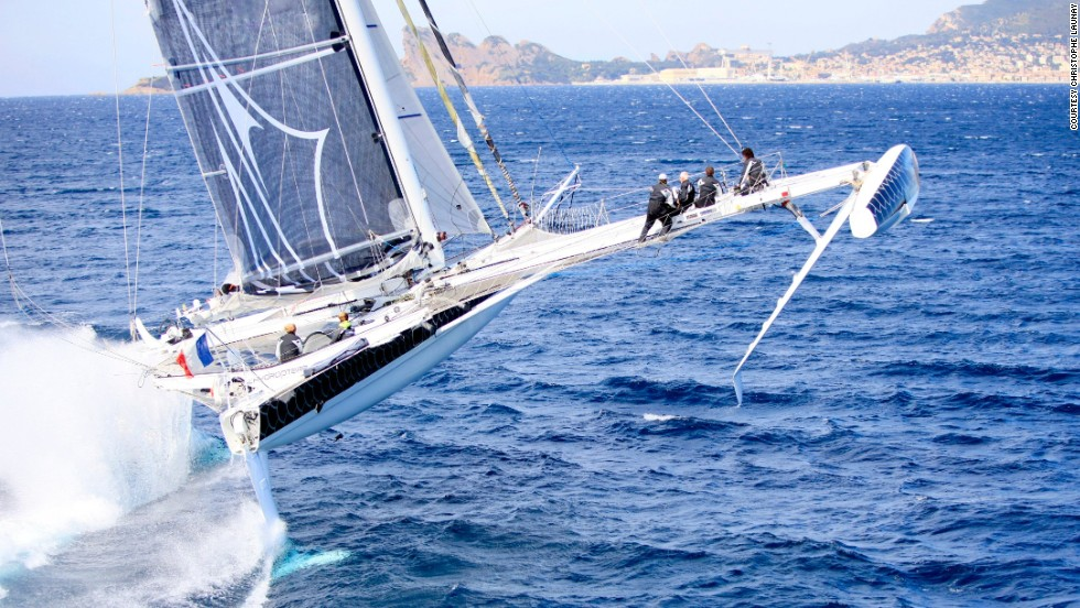 "In fact, the record-breaking vessel -- called <a href=""http://hydroptere.com/en/home/"" target=""_blank"">Hydroptere</a> -- is one of the fastest sailboats in the world, harnessing wind power much the same as an airplane."
