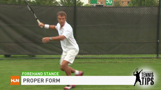 Tennis Tips: Forehand stance