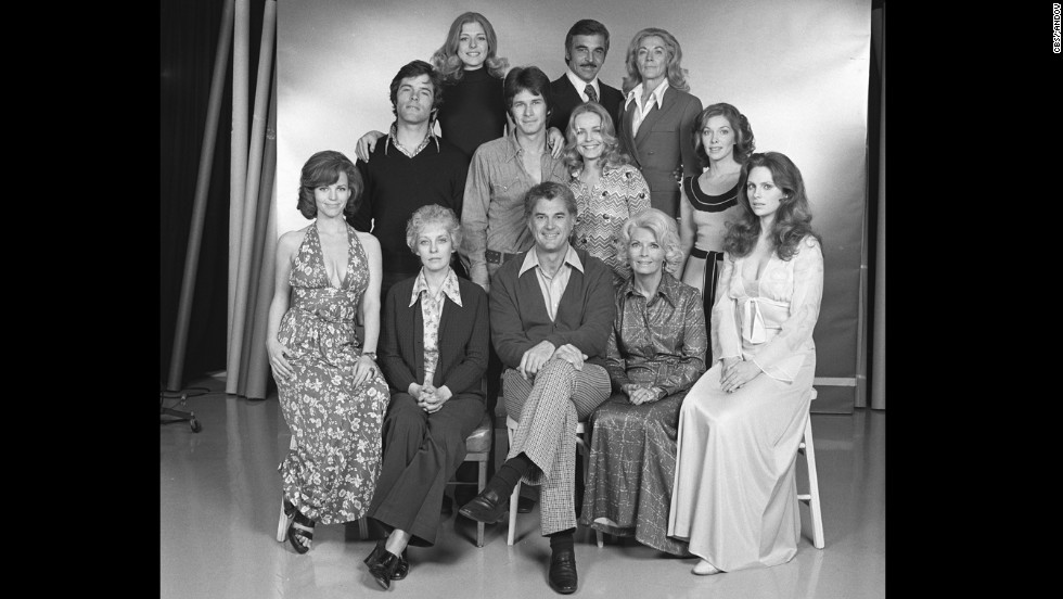"Cooper, at right top, poses with the cast of ""The Young and the Restless"" in 1974"