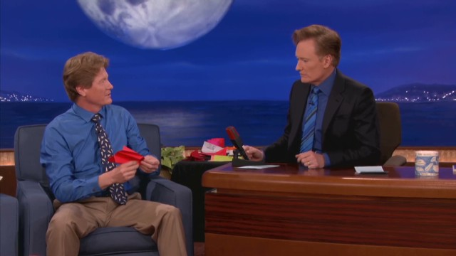 Conan meets the 'Paper Airplane Guy'