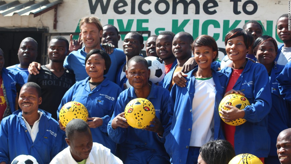 French football coach Herve Renard, who is the manager of Zambia's national team, is also a supporter of Alive & Kicking.