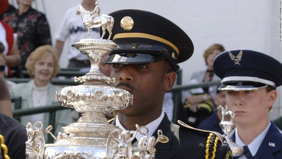 The race's solid silver Woodlawn Vase is the most expensive trophy in American sports, valued at a whopping $1 million.