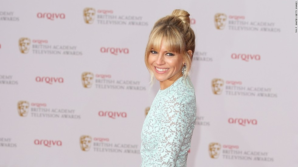 Sienna Miller arrives at the Arqiva British Academy Television Awards in London on May 12.