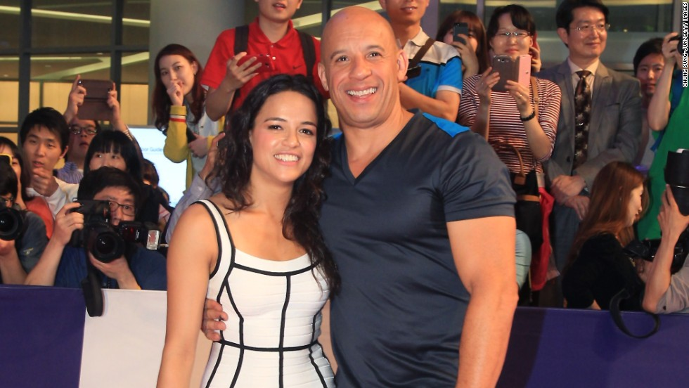 "Vin Diesel and Michelle Rodriguez attend the South Korean premiere of ""Fast & Furious 6"" in Seoul on May 13."