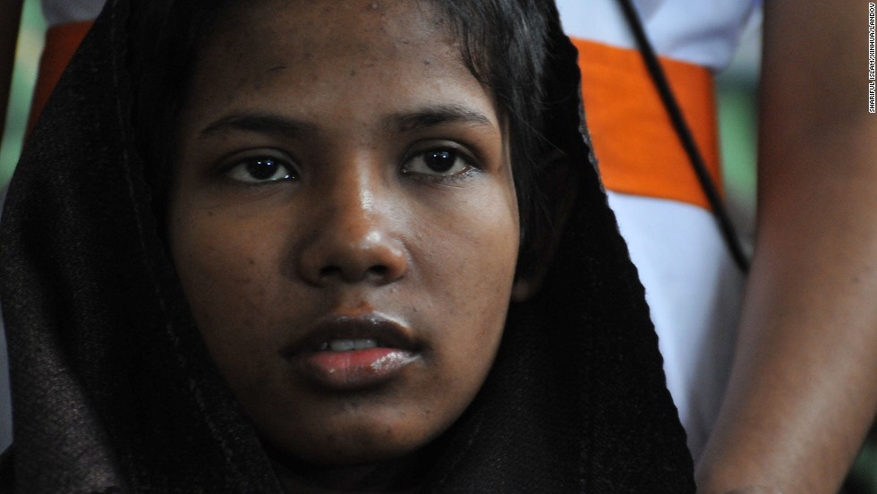 Begum, a young female garment worker at the Rana Plaza building before the disaster, addresses the media at the Savar Combined Military Hospital in Savar area of Dhaka on Monday, May 13.