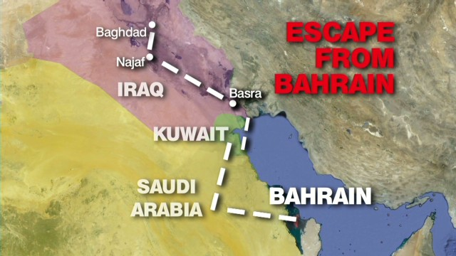 A dramatic escape from Bahrain