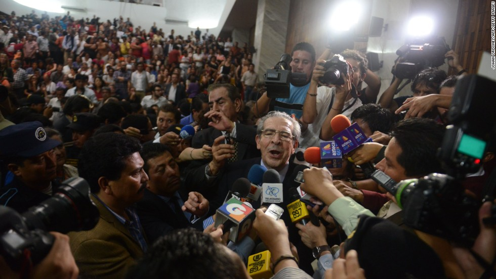 "Montt talks to the media in Guatemala City on May 10, 2013, after being convicted on charges of genocide allegedly committed during his regime in 1982-83. It was ""the first time, anywhere in the world,"" that a former head of state was being tried for genocide by a national tribunal, according to the United Nations. <a href=""http://www.cnn.com/2013/05/21/world/americas/guatemala-genocide-trial/index.html"" target=""_blank"">The conviction was overturned</a> 10 days later, however, and Guatemala's Constitutional Court ordered a retrial."