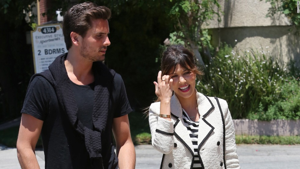 Scott Disick and Kourtney Kardashian head out in Los Angeles on May 13.