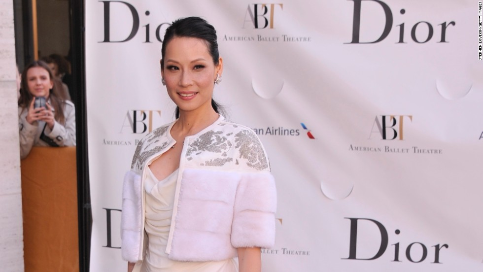 Lucy Liu arrives at the American Ballet Theatre's opening night in New York on May 13.