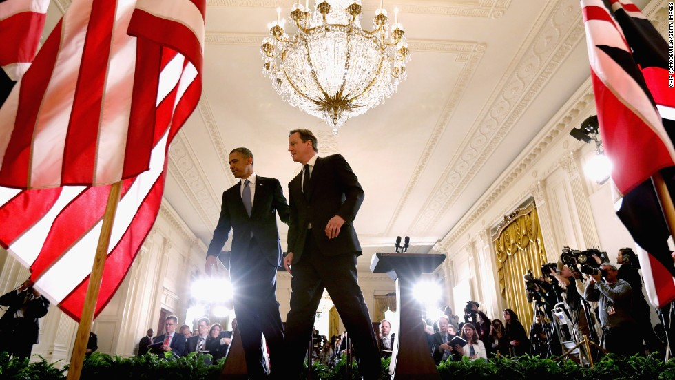 "MAY 13 - WASHINGTON, D.C.: U.S. President Barack Obama and British Prime Minister David Cameron meet in the White House to foster the <a href=""http://globalpublicsquare.blogs.cnn.com/2012/08/09/is-the-special-relationship-still-special/"">""special relationship""</a> between their countries. Despite talk of Britain considering an EU exit, the bonds between U.S. and UK remain strong."