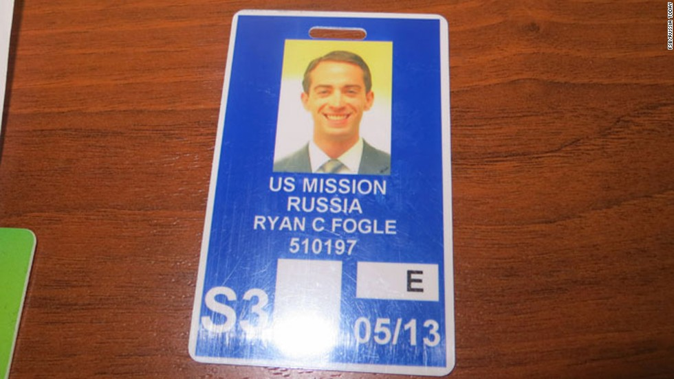 A photograph of the man's identification card released by the FSB identifies him as Ryan Fogle. An FSB spokesman said he was third secretary of the Political Department of the U.S. Embassy in Moscow.
