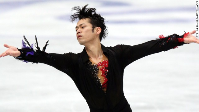 Daisuke Takahashi of Japan competes in the Men's Free Skating during day two of the ISU Four Continents Figure Skating Championships at Osaka Municipal Central Gymnasium on February 9, 2013 in Osaka, Japan. (Photo by Atsushi Tomura/Getty Images