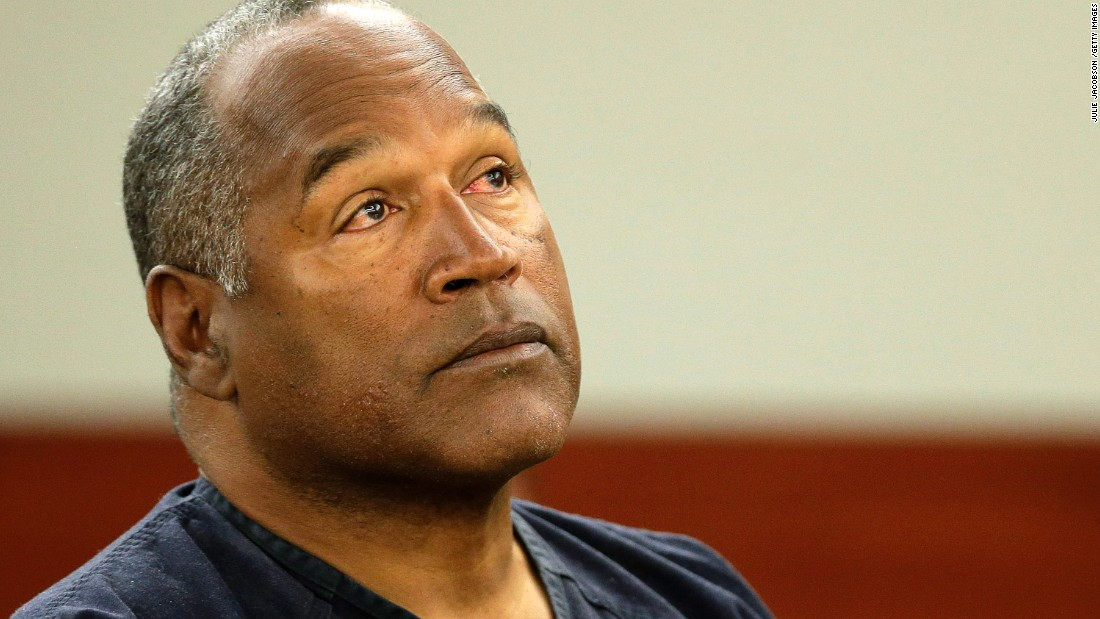 "Disgraced football star O.J. Simpson appears in court on May 13, 2013, seeking to get his robbery, assault and kidnapping convictions thrown out after spending more than four years in prison. <a href=""http://www.cnn.com/2013/05/13/justice/oj-simpson-appeal/index.html"">He argued that bad legal advice led to his arrest and conviction in a confrontation</a> with sports memorabilia dealers. His 2008 conviction came 13 years after his acquittal on murder charges in the deaths of ex-wife Nicole Brown Simpson and Ronald Goldman."
