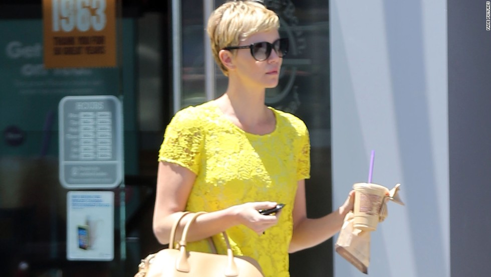 Charlize Theron fuels up while out in West Hollywood on May 14.