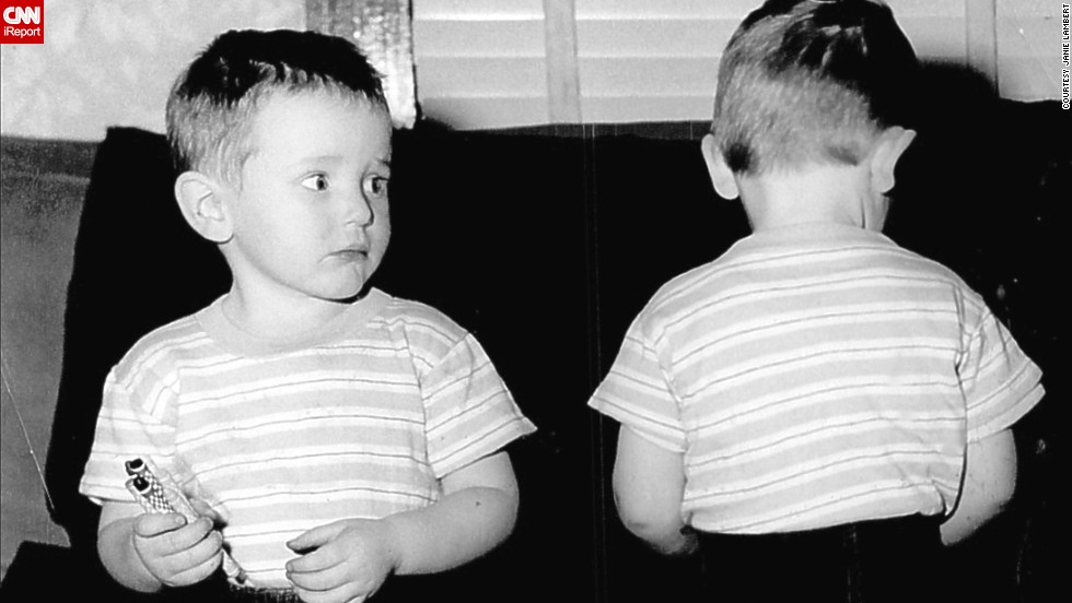 "By the '50s, denim had become popular with everyday Americans, children included. The grandmother of <a href=""http://ireport.cnn.com/docs/DOC-965623"">these twin boys</a> ""thought it was time they looked like little boys instead of babies,"" said iReporter Janie Lambert, whose husband, right, was about 3 years old in this 1952 photo.  The pants were a deep blue denim (no prewash in those days)."