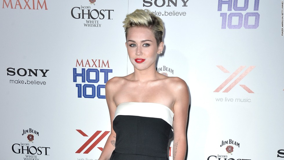 Miley Cyrus attends Maxim magazine's Hot 100 party on May 15 in Hollywood.