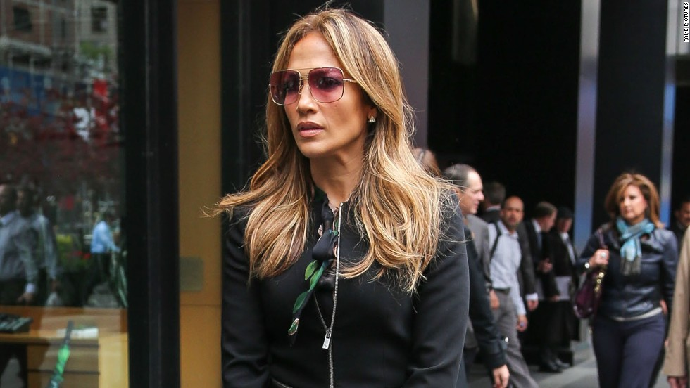 Jennifer Lopez steps out in New York on May 15.