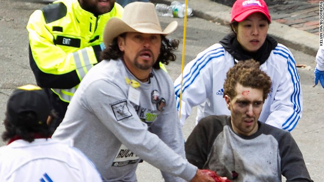 Meet man behind iconic Boston bomb photo