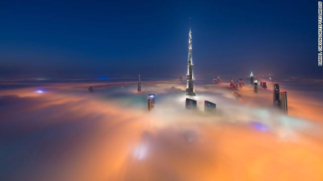 Photographer Daniel Cheong spent the past six months photographing Dubai's record-breaking skyline at just the right moments. The Burj Khalifa, the world's tallest building, is seen here from the 79th floor of the Index Tower.