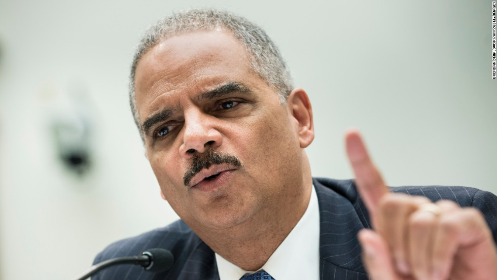 U.S. Attorney General Eric Holder testifies during a hearing of the House Judiciary Committee in May 2013. The day before, Holder announced a Justice Department investigation into any possible criminal wrongdoing by the IRS.
