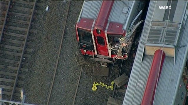 Raw: Aerials of Conn. train accident
