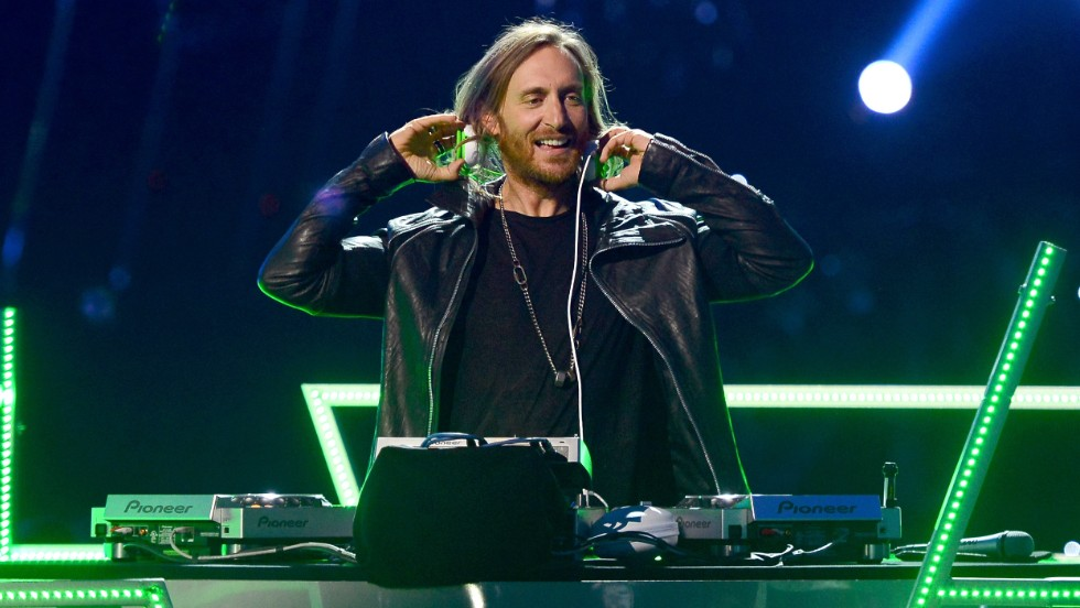DJ David Guetta performs.