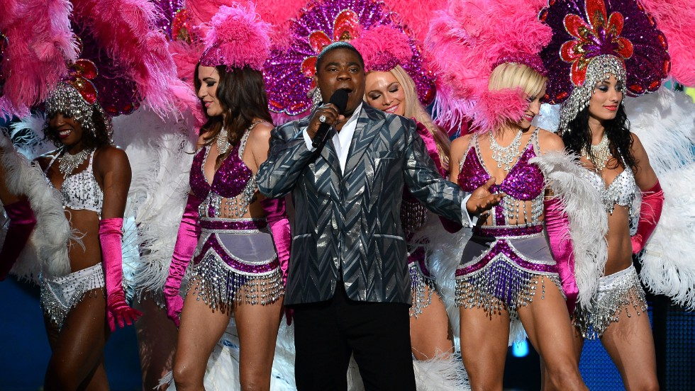 Host Tracy Morgan speaks onstage.