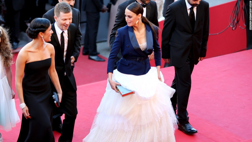 "Berenice Bejo attends the May 17 Cannes premiere of ""Le Passe."""