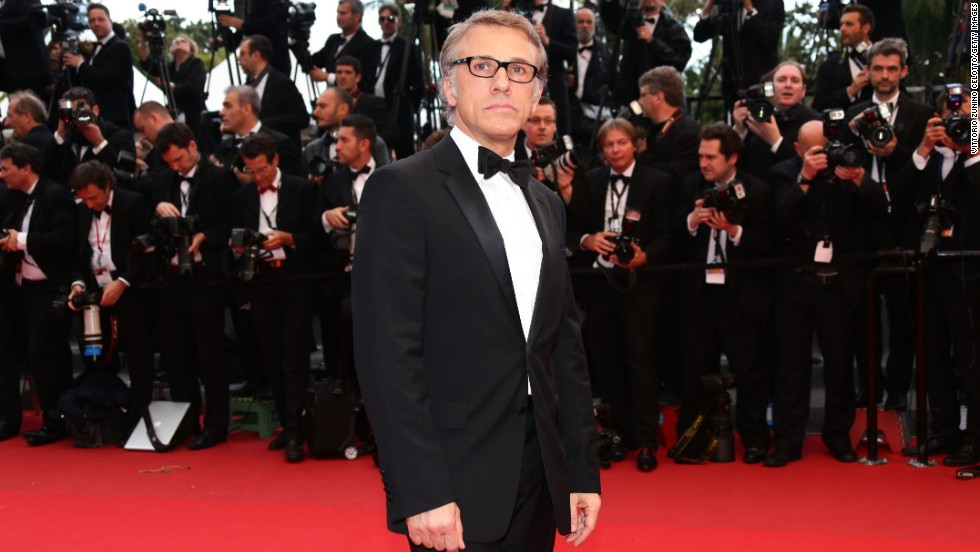 "Christoph Waltz attends the May 19 Cannes screening of ""Inside Llewyn Davis."""
