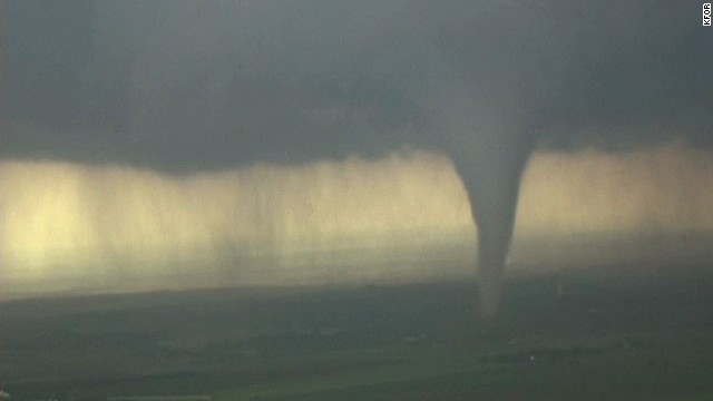 A tornado touches down in Oklahoma on May 20.