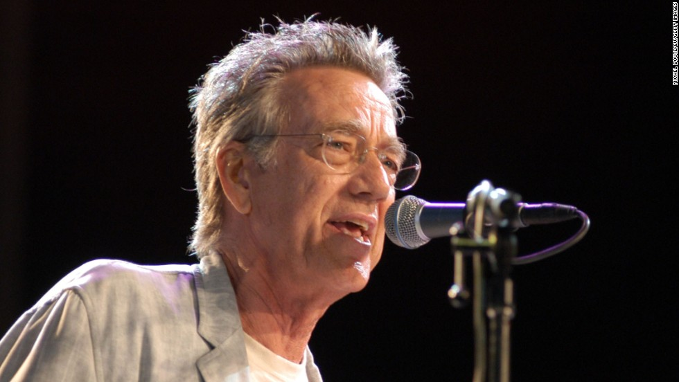 Manzarek performs at a concert in Los Angeles celebrating the 100th anniversary of Harley-Davidson on September 6, 2002.