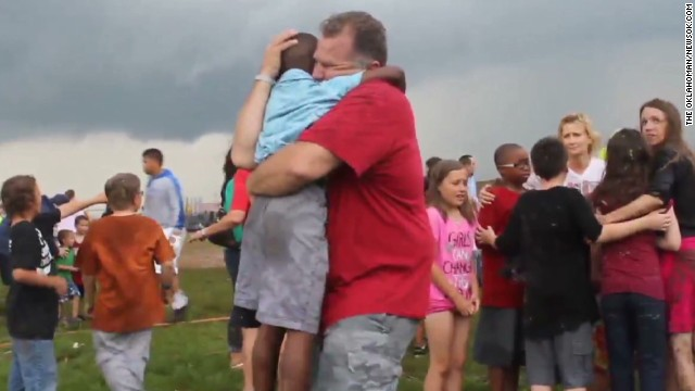 Tearful reunions at elementary school