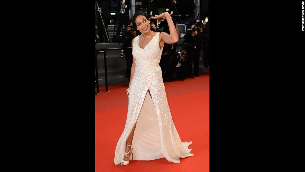 "Rosario Dawson attends the Cannes premiere of ""As I Lay Dying"" on May 20."