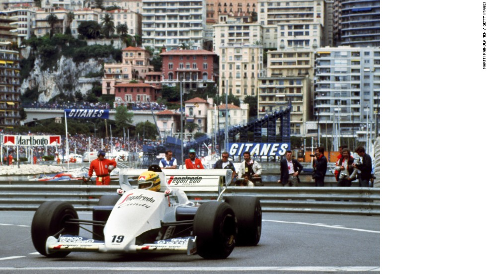 "The late triple world champion Ayrton Senna won the Monaco race a record six times and says he entered a ""trance-like"" state while driving through the narrow streets."