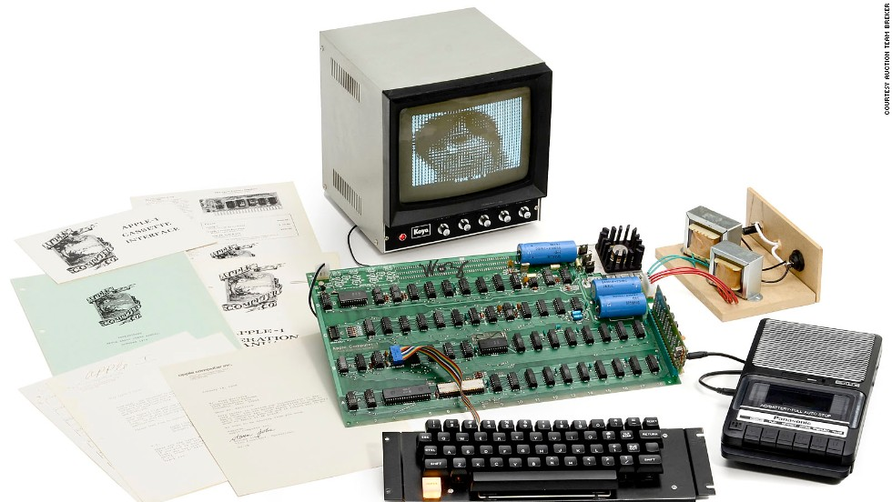 "A rare Apple 1 computer is to be auctioned for up to $400,000. The original Apple was the first computer to be built by the California-based technology company. Up for auction is one of only six surviving ""Apple 1"" computers still in working order."