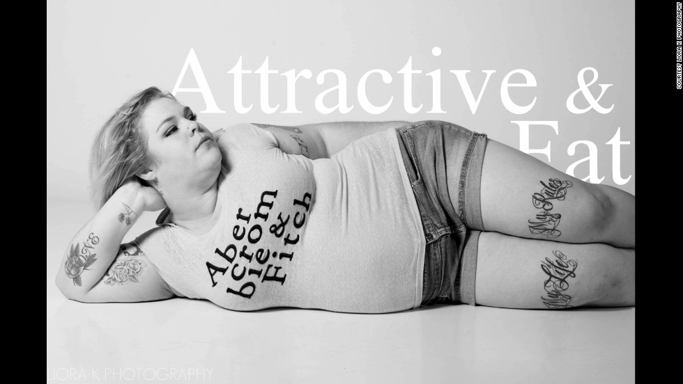 "Jes Baker, who blogs under the name ""The Militant Baker,"" changed Abercrombie and Fitch's logo to ""Attractive & Fat"" to challenge CEO Mike Jeffries' comments about marketing to ""cool, good-looking people."" The company doesn't carry above a size 10 or large for women."