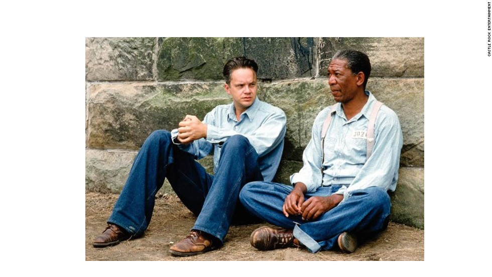 "<strong>""Shawshank Redemption"" (1994)</strong>: This story of two men who form a lasting friendship while in prison is a drama rather than the usual buddy movie comedy, but the work of Morgan Freeman and Tim Robbins is a duo performance at its finest."