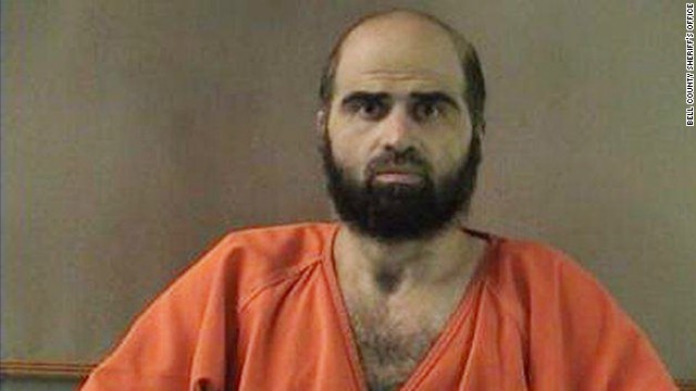 Maj. Nidal M. Hasan is accused in a Fort Hood shooting that left 13 people dead and dozens more wounded