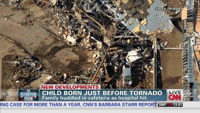 Child born just before tornado