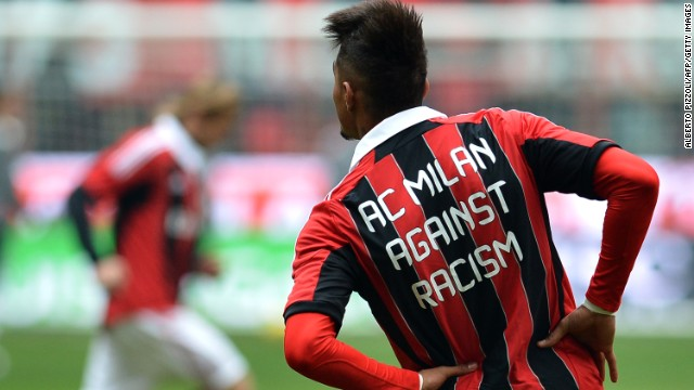 AC Milan midfielder Kevin Prince-Boateng walked off the pitch in January after being subjected to racist abuse.