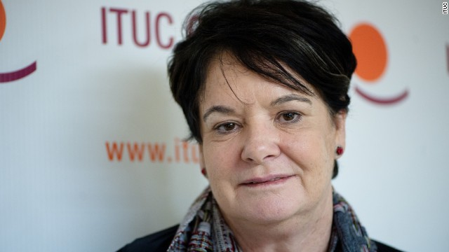 Sharan Burrow, general secretary of the International Trade Union Confederation