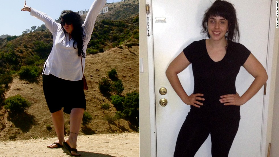 "After her college roommate died in 2009, Jacki Monaco treated her depression with junk food. Over the next two years, she gained 100 pounds. In 2011, she was diagnosed with binge eating disorder. She learned how to <a href=""http://www.cnn.com/2013/05/24/health/jacki-monaco-weight-loss/index.html"">have a healthy relationship with food</a> and has since dropped 70 pounds."